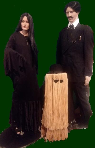 Morticia, Gomaz and cousin Itt Morticia