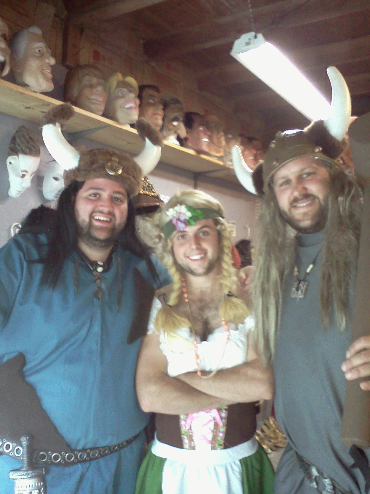 vikings and bar maid