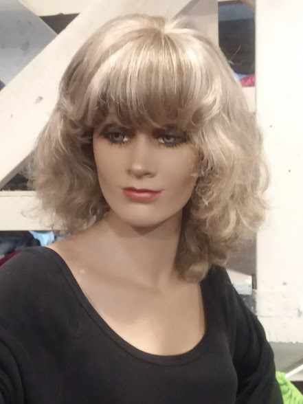 Medium length two tone wig