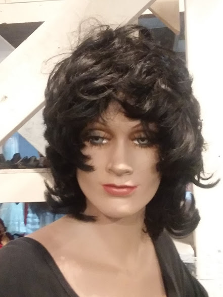 Black wave wig